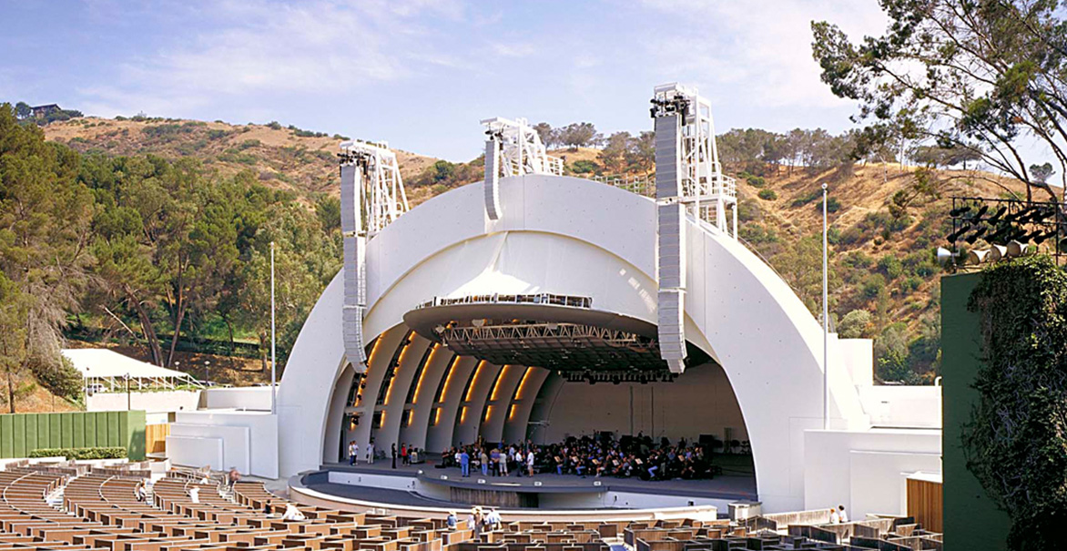 Hollywood bowl shell renovation and stage replacement for Terrace 2 hollywood bowl